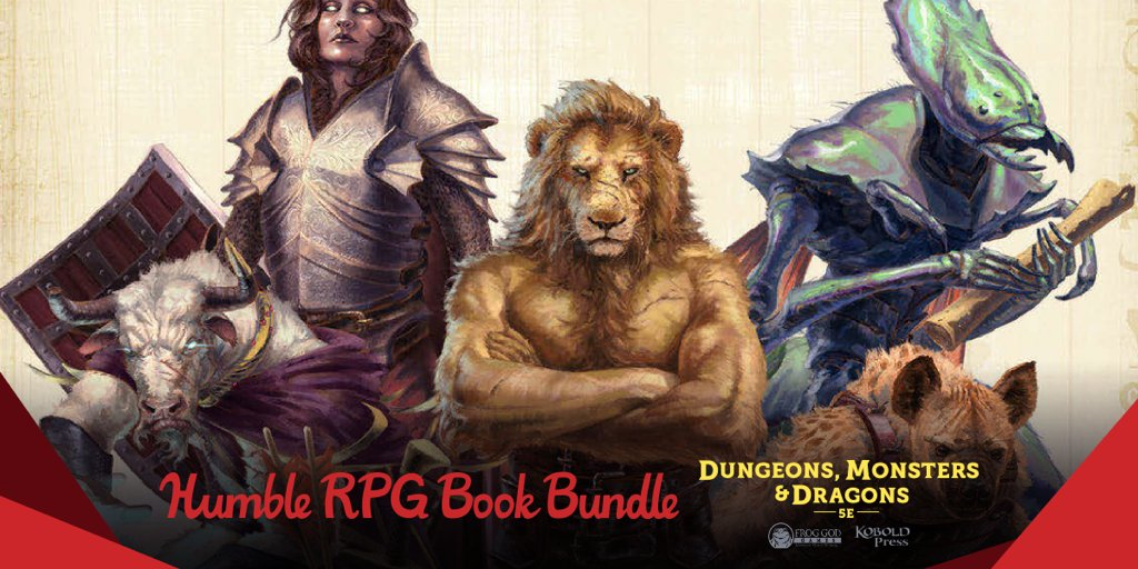 The Humble RPG Book Bundle Dungeons, Monsters & Dragons 5E by Frog God Games & Kobold Press